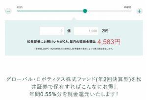 松井証券の評判は?投信毎月現金還元がエグい